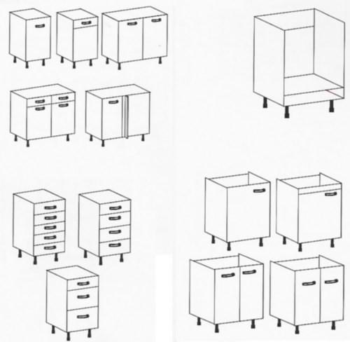 Bricofiel cocinas - Modulos de cocina en kit ...
